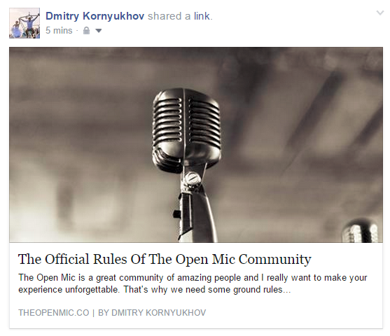 Developer Diary 9 Writing Stories On The Open Mic Featured Image on Facebook on The Open Mic (find translators on theopenmic.co)